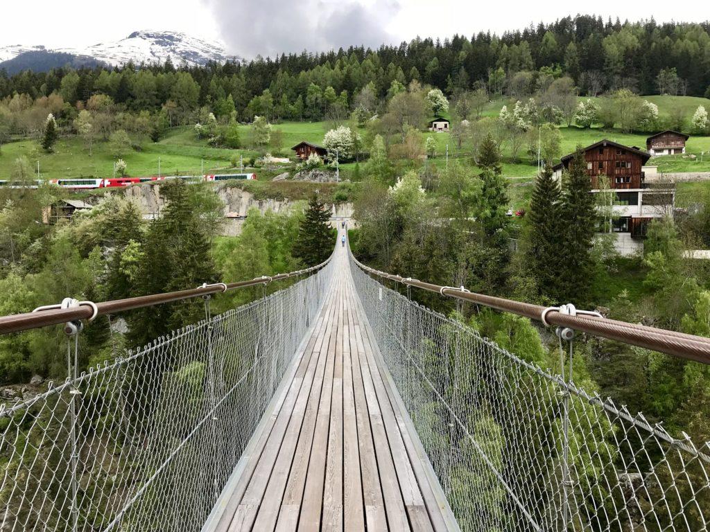 Suspension Bridge in Bellwald - Switzerland - 2018